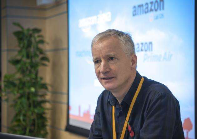 Doug Gurr, Amazon UK manager, announces 180 new jobs are set for its Cambridge centre. Picture: Keith Heppell