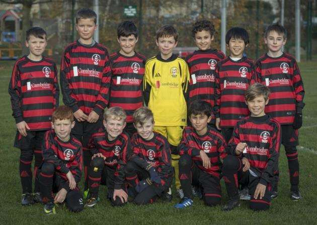 Histon Hornets in their Cambridge Independent sponsored sports kit. Picture: Keith Heppell