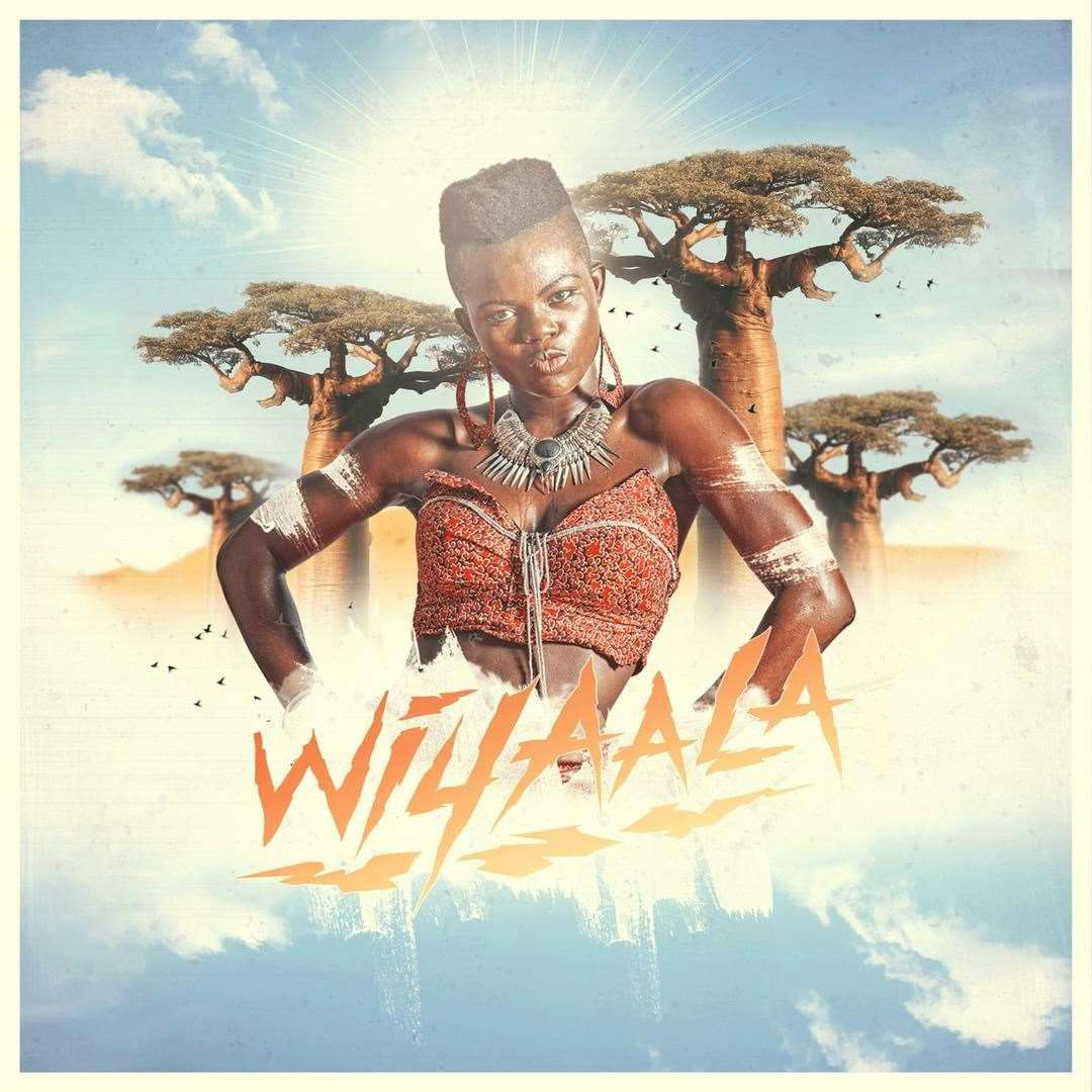 The cover of Wiyaala's new album