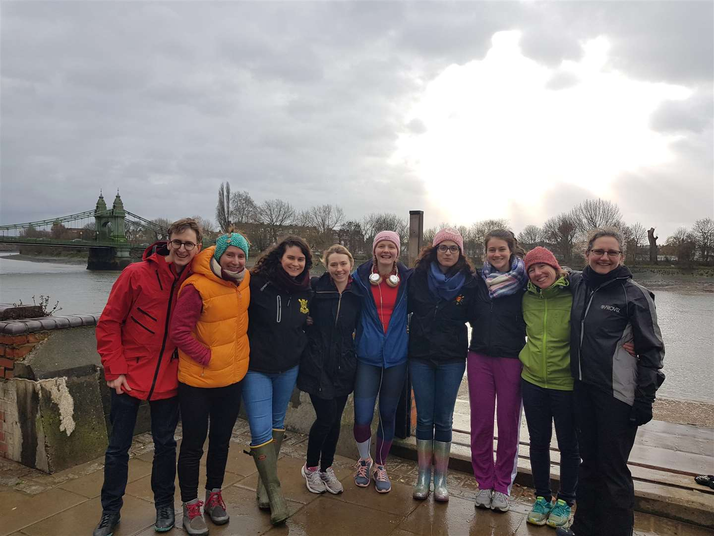 Cambridge 99 women's first crew, from left, Sebb Hathaway, Isabelle Ascah-Coallier, Gemma Douglas, Louise Fairclough, Elena Williams, Chrysa Litina, Anna Willis, Michaela Spitzer and Christina Champion. Picture: Elena Williams (6832185)