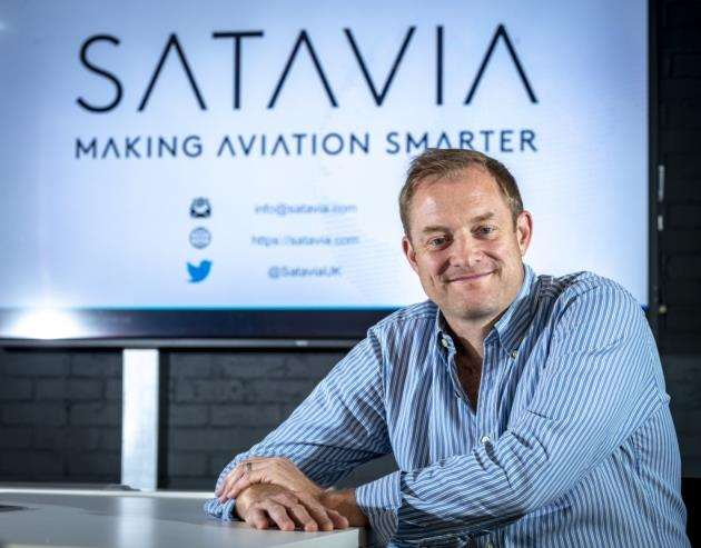Satavias founder and CEO Dr Adam Durant at Eagle Labs in Cambridge. Picture: Keith Heppell
