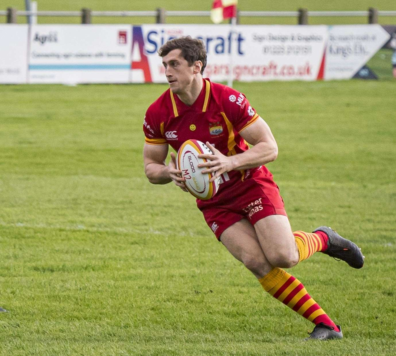 Joe Tarrant scored Cambridge's first try against Bishop's Stortford.