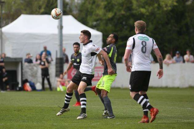 Sam Squire in action on loan for Cambridge City. Picture: Rich Marsham