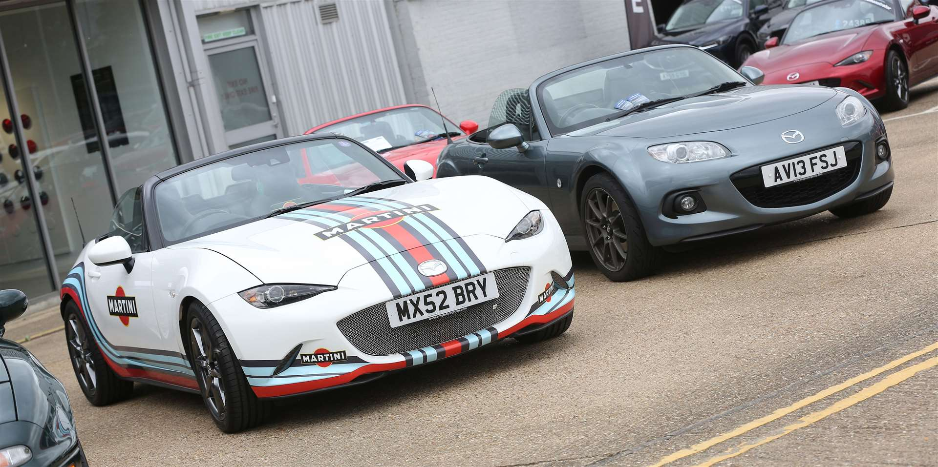 Some Mazda Mx-5s on display at the launch of the 30th anniversary model of the car at EMG. Picture: Richard Marsham