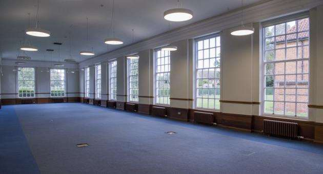 The former dining room at The Officers Mess in Duxford. Picture: Keith Heppell