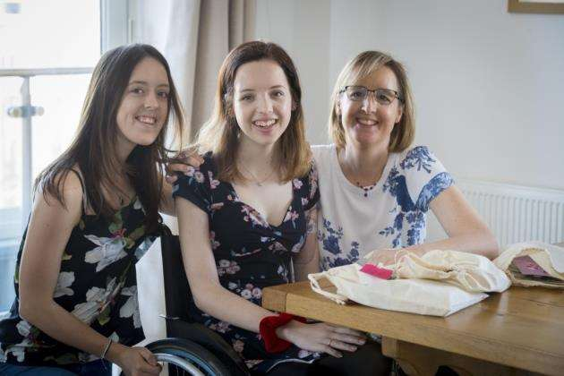 Lucy Stafford YOPEY nominee at home in Cambridge, with mum Kate and sister Caroline. Picture: Keith Heppell