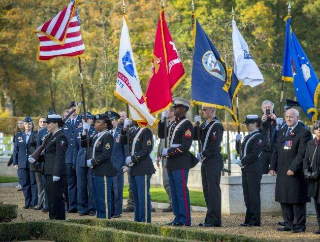 Veterans Day at the American Cemetry, Madingley . Picture: Keith Heppell