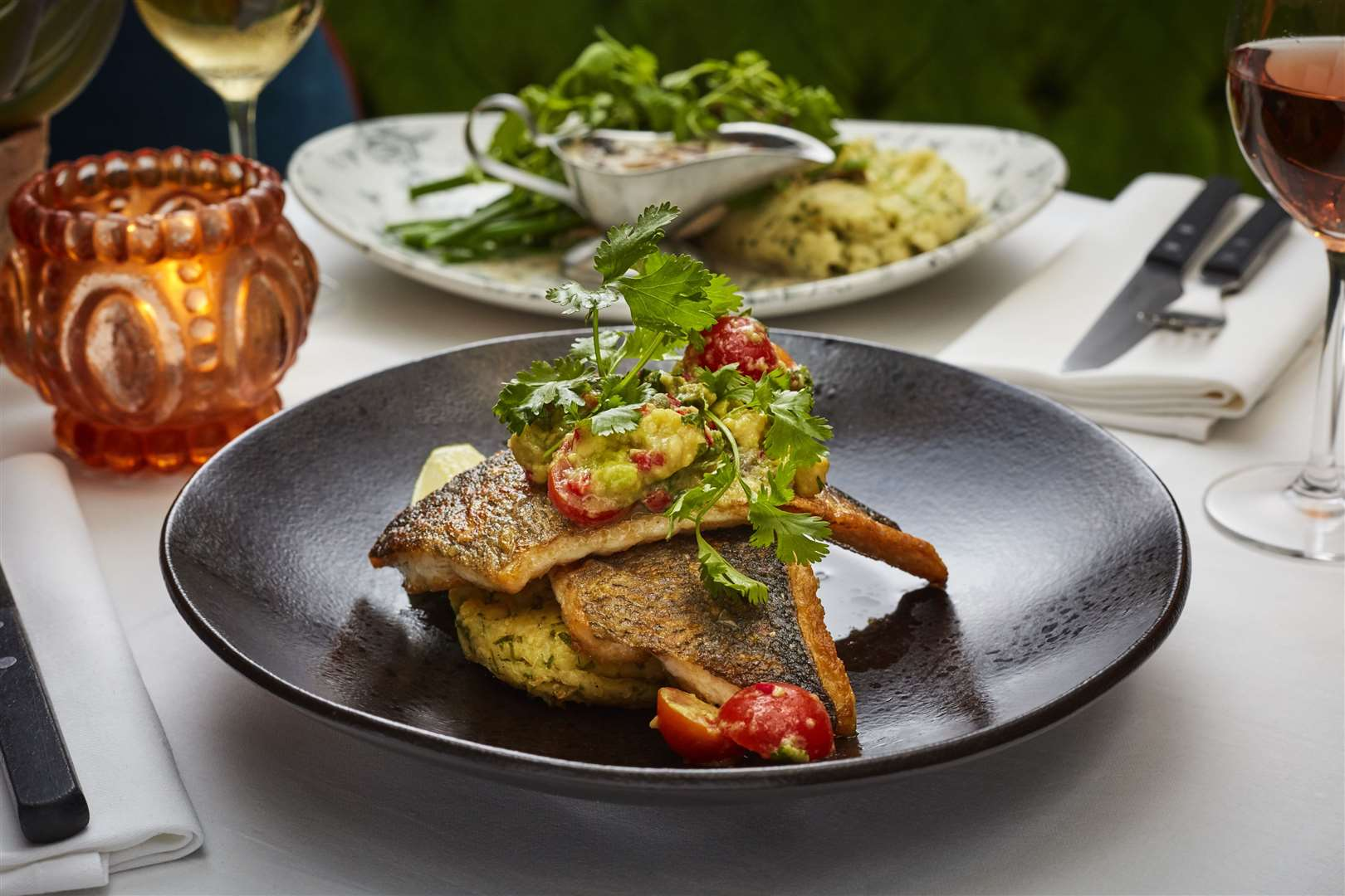 Pan-fried sea bass at Bill's. Picture: Jodi Hinds Food Photographer London