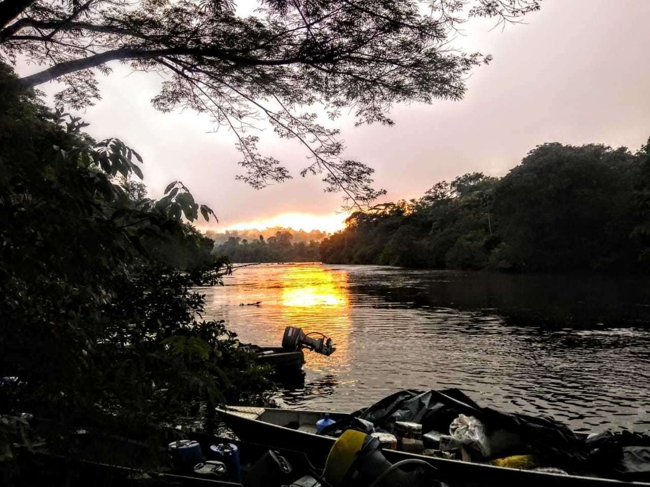 A sunset on the trip to find the Amazon's tallest tree. Picture: Rafael Aleixo (24806119)