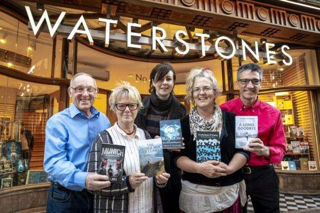 Waterstones books launch, from left David Laws, Mara G Fox, Emily B Scialom, Tracey Ann Cracknell and Anthony Le Moignan. Picture: Keith Heppell
