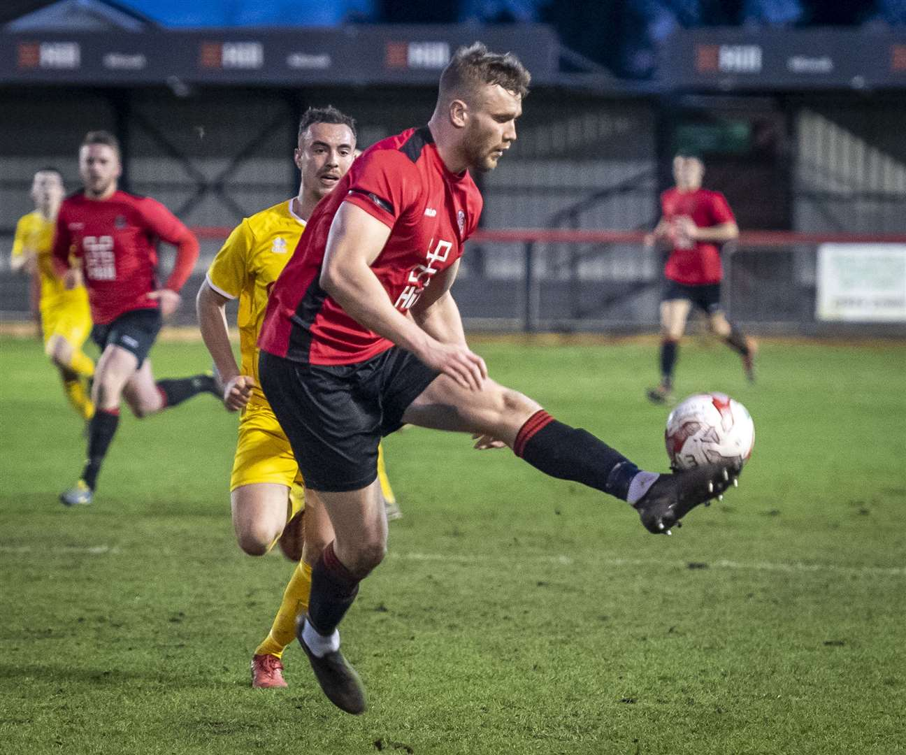 Ed Rolph scored for Histon at Kirkley & Pakefield. Picture: Keith Heppell