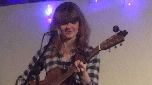 Jess Morgan on stage at the Cambridge Folk Club. Picture: Adrian Peel