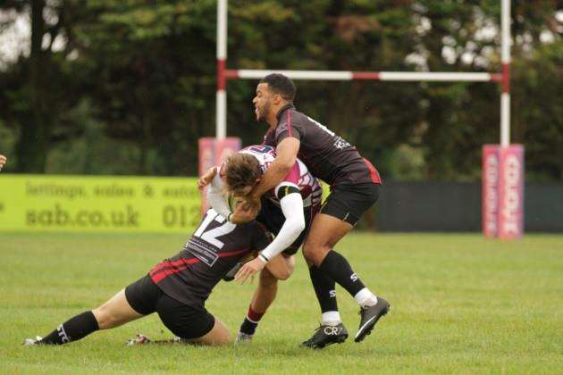 Simon Hrbek in action for Shelford Rugby Club. Pictures by Cat Goryn