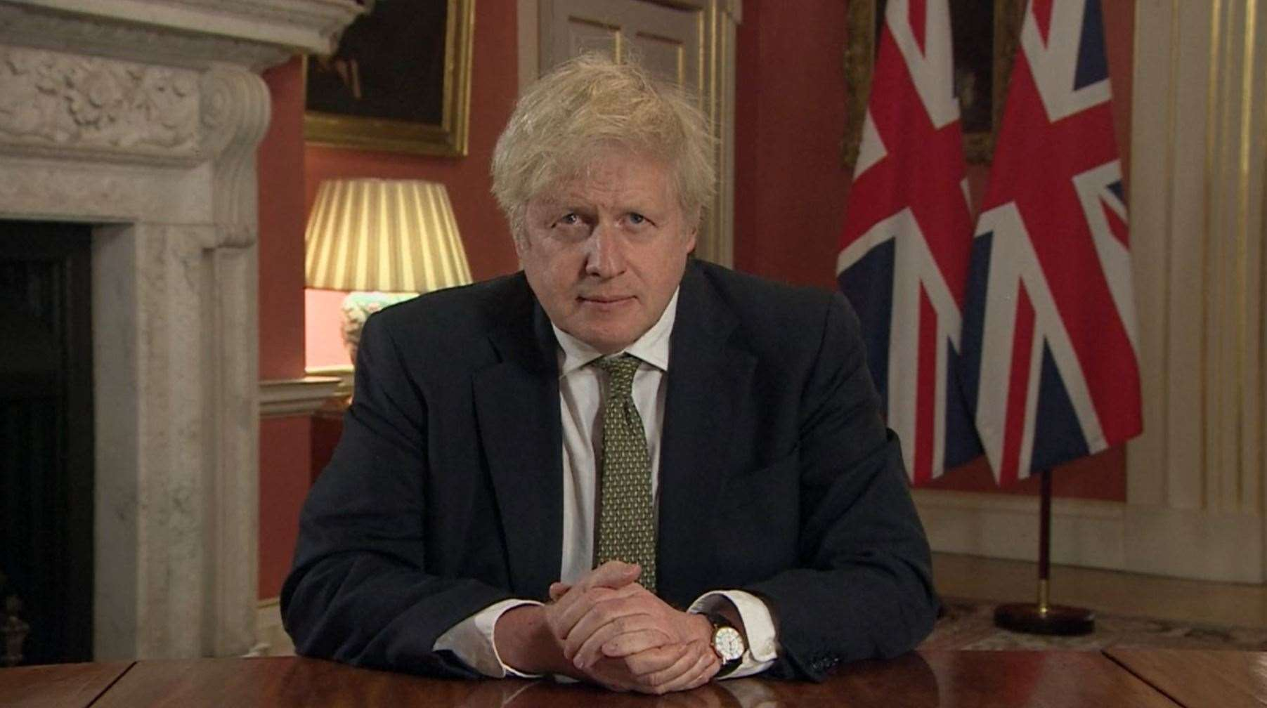 Prime Minister Boris Johnson making a televised address to the nation from 10 Downing Street (43818679)