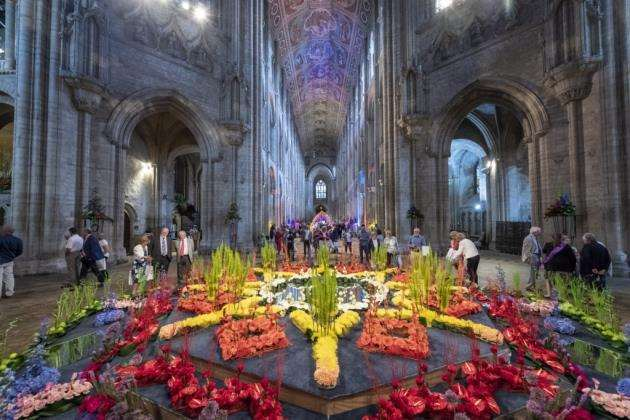 The stunning sight of Ely Cathedral Flower Festiva 2018. Picture: Keith Heppell