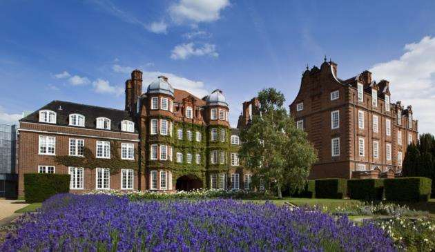 Pictured is the first building erected at Newnham College, co-founded by Millicent Fawcett.