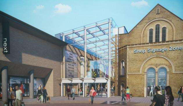An artists impression of the new-look Grafton centre