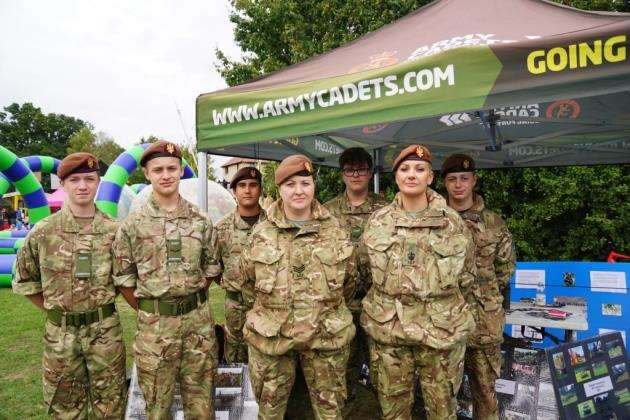 At Cambourne Fete 2018 are Cambridgeshire Army Cadet Force Cambourne detachment for 12 to 18-year-olds. It meets on Thursdays from 7-9.30pm at the Blue School
