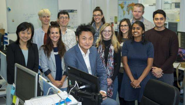 Dr Yichen Shi with some of his team at Axol Bioscience, Chesterford Research Park. Picture: Keith Heppell