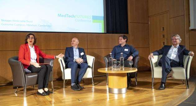 The first panel session at the inaugural MedTech Futures Conference. Picture: Keith Heppell