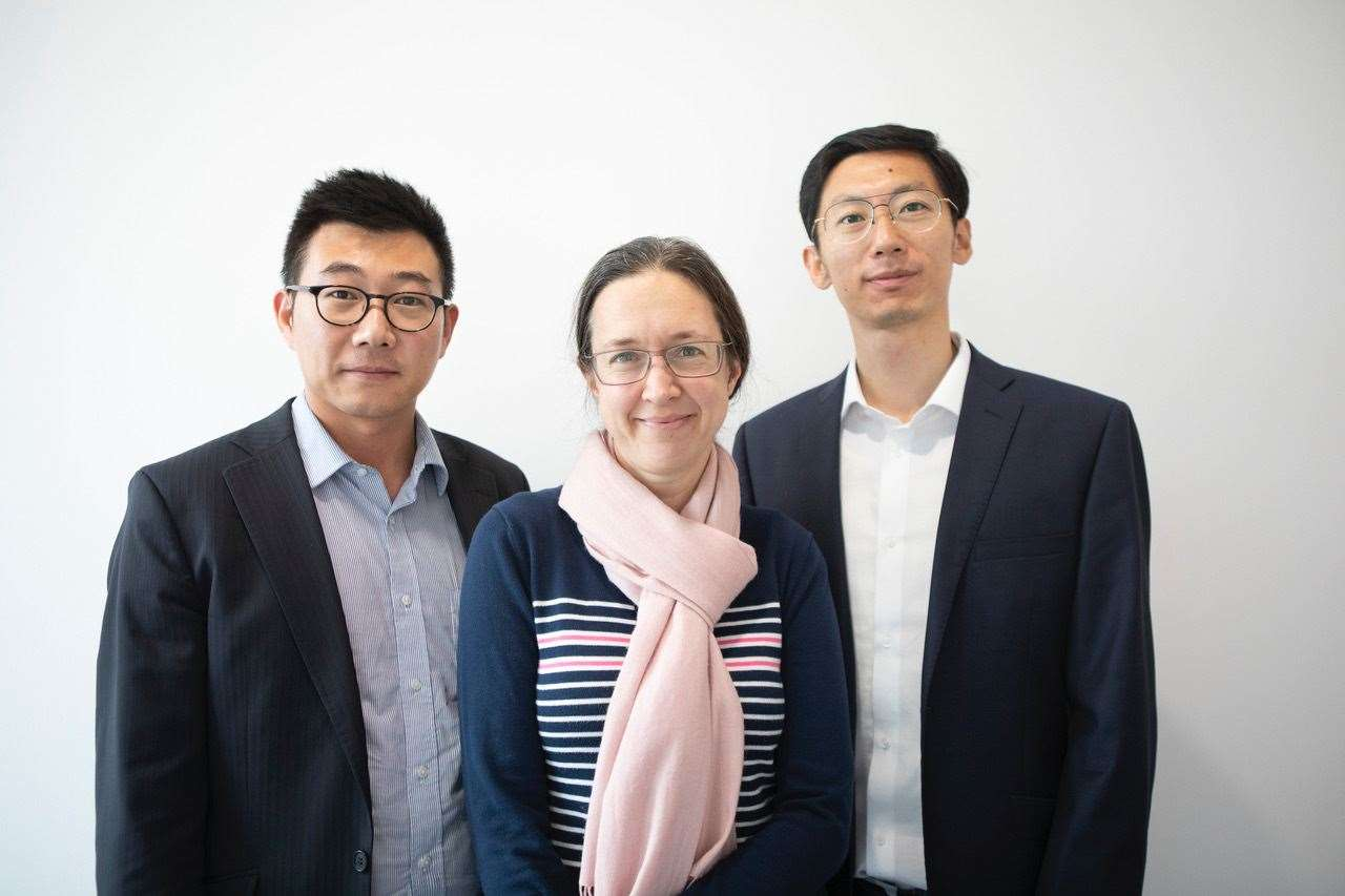 Poro Technologies co-founders, from left, CEO Dr Tongtong Zhu, CSO Professor Rachel Oliver and CTO Dr Yingjun Liu. Picture: Porotech (33407797)