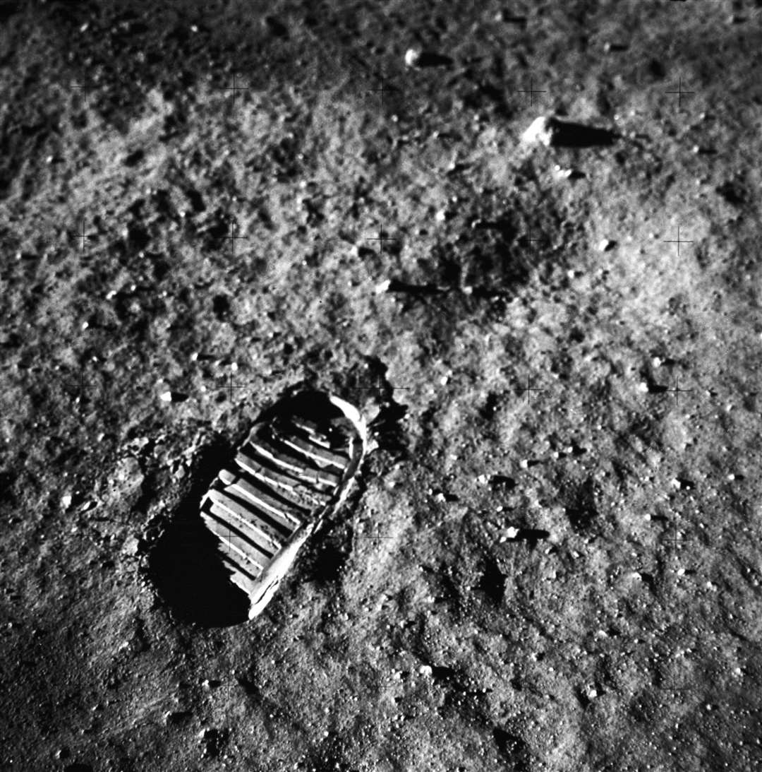 This is a close-up view of an astronaut's footprint in the lunar soil, photographed by a 70 mm lunar surface camera during the Apollo 11 lunar surface extravehicular activity. The first manned lunar mission, the Apollo 11 launched aboard a Saturn V launch vehicle from the Kennedy Space Center, Florida on July 16, 1969 and safely returned to Earth on July 24, 1969. Picture: NASA (14042019)