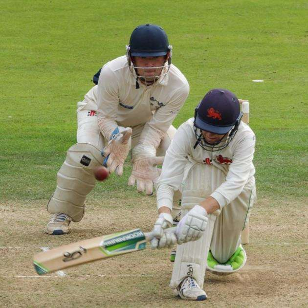 Angus Dalgleish takes a swing for Cambridge University. Picture: Mike Harris