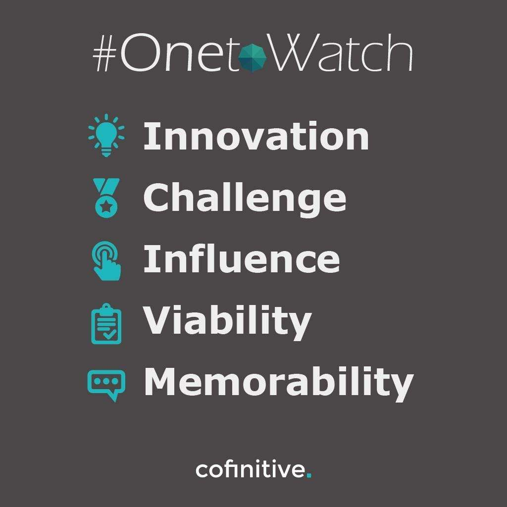 The #OnetoWatch campaign is sponsored by Cofinitive (5680666)