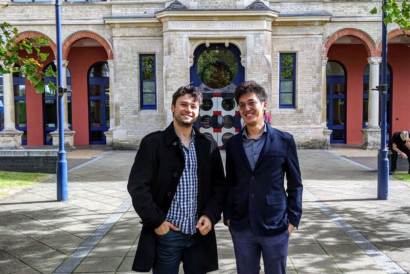 Medwise.ai co-founders Keith Tsui and Daniel Duma at the Judge Business School in Cambridge. Picture: Medwise.ai