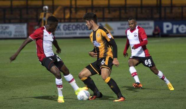 Matt Foy in action for Cambridge United against Southampton. Picture: Keith Heppell