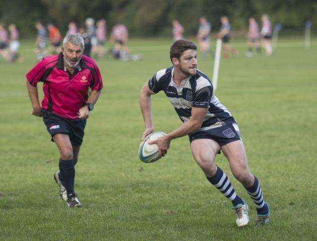 Richard Knight scored two tries for Cantabrigian against Harlow.