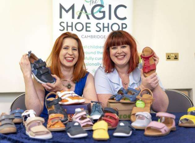 The Magic Shoe Shop, currently a pop-up, is run by Emma Gervasio (left) and her sister Harriet Gervasio. Picture: Keith Heppell