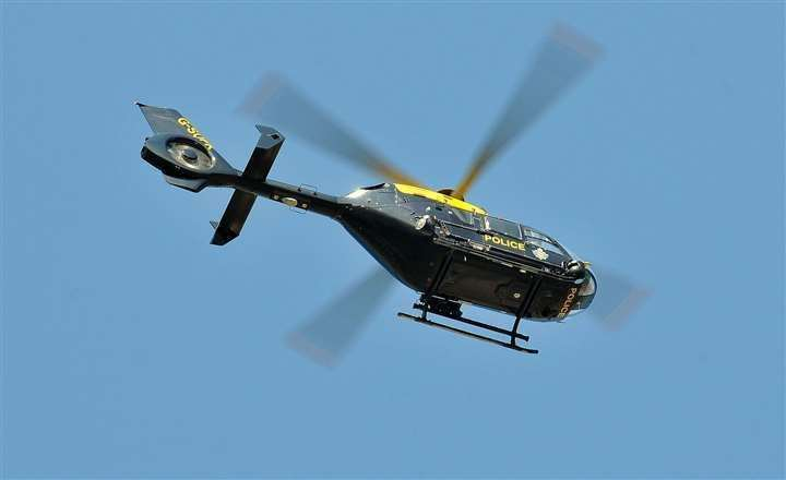 The police helicopter was deployed