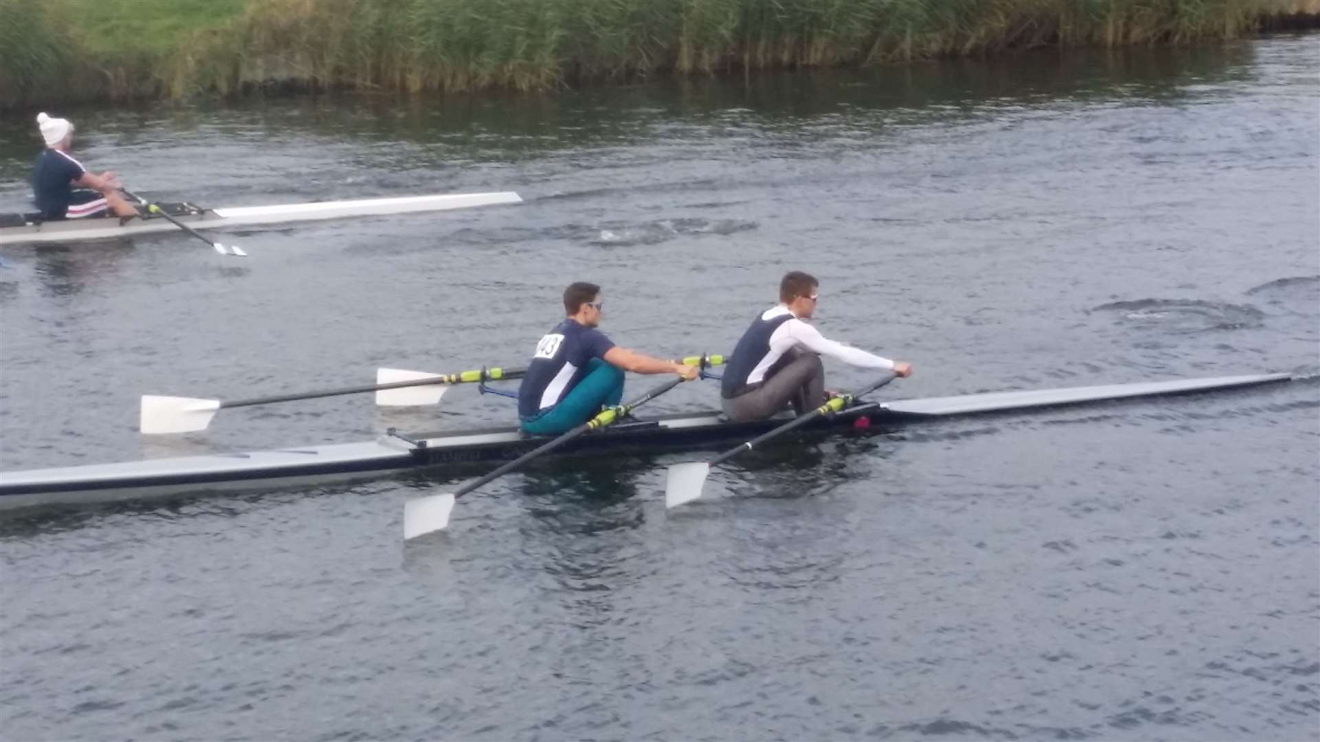 Cantabrigian's Jeremy Austin and Jack Goode in action at the Isle of Ely Head race. Picture: Andy Johnson (21002656)