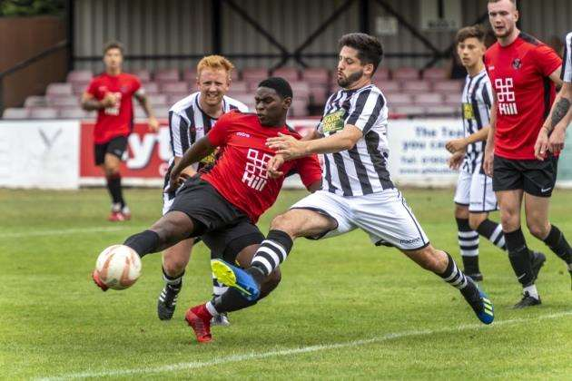 Rukky Diejomaoh on target for Histon against Peterborough Northern Star. Picture: Keith Heppell