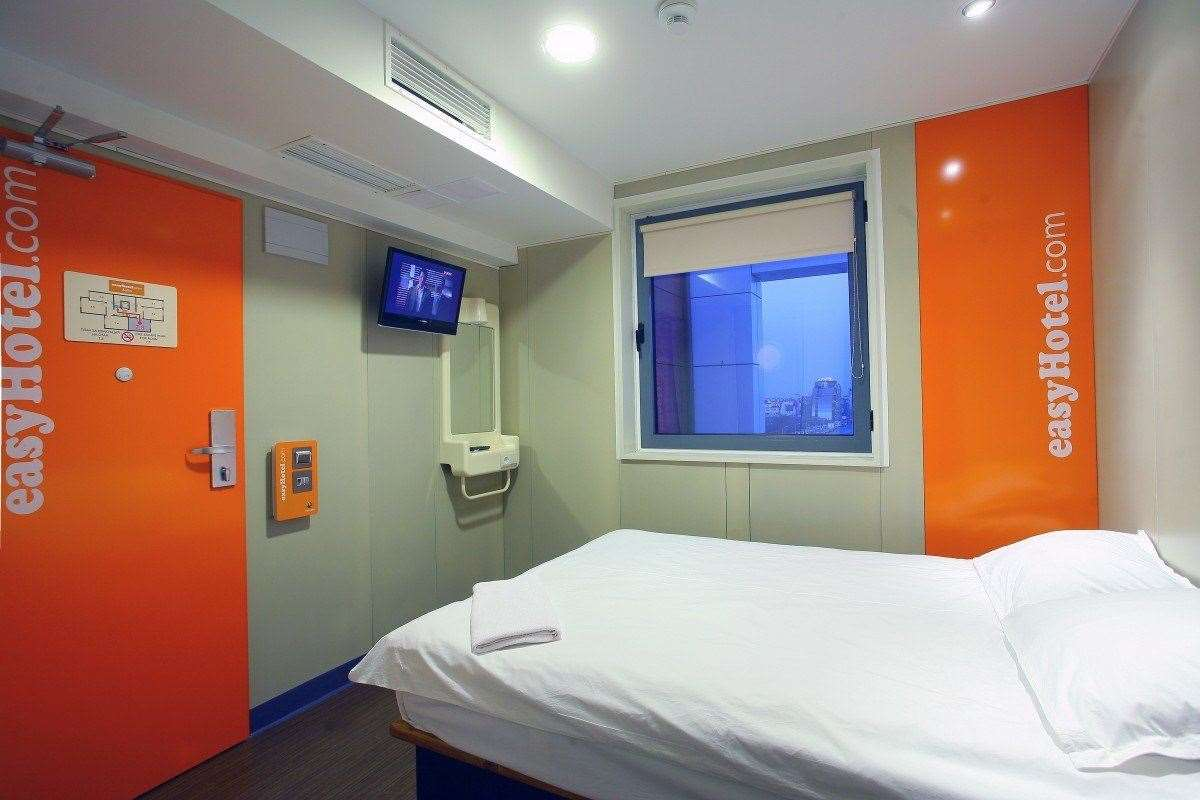An easyHotel room