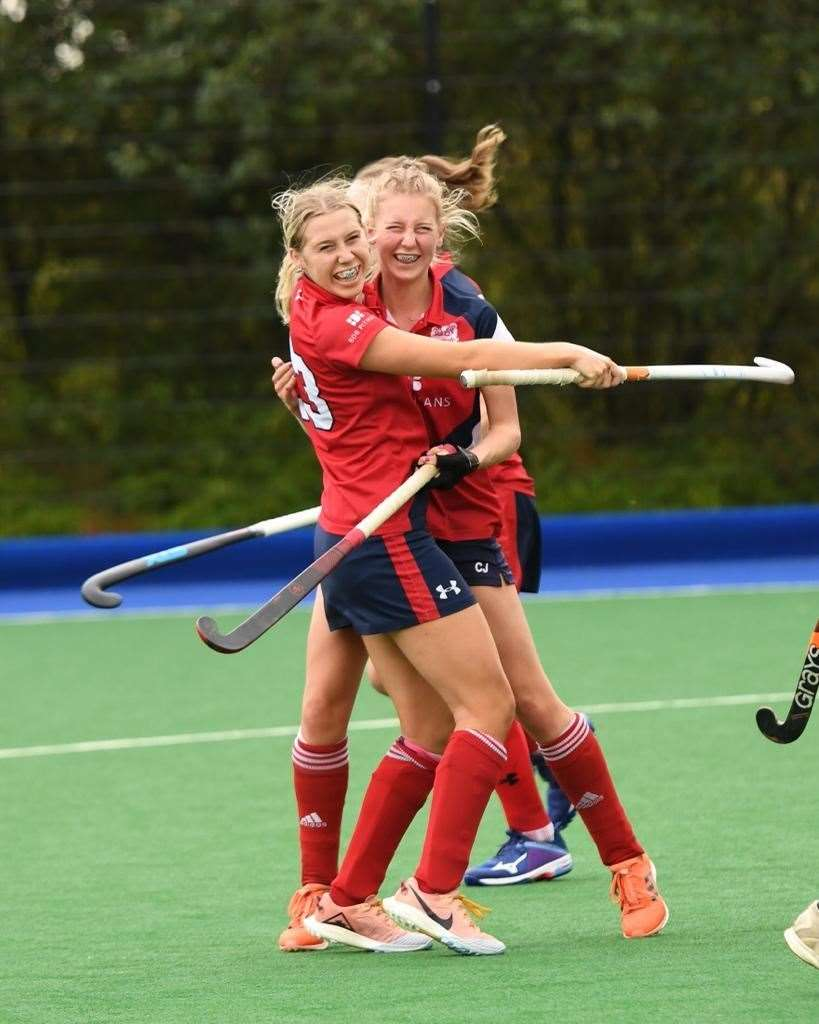 Maddie and Kate Axford, of Cambridge City Hockey Club. Picture: Kim Butler (43137481)