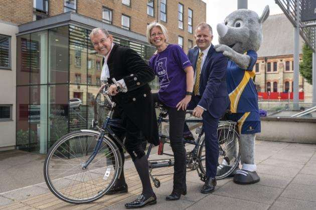 The 40-mile cycling challenge marks 25 years of university status for ARU. Picture: Keith Heppell
