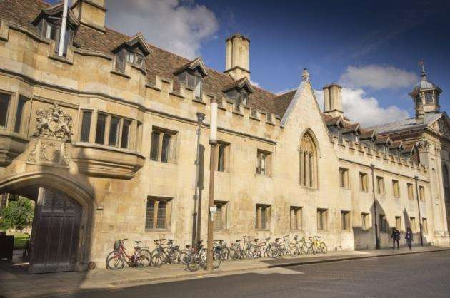 The front of Pembroke College, Cambridge