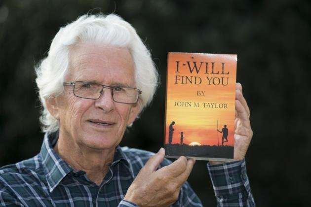 Author John Taylor with his first novel at home in Cambridge. Picture: Keith Heppell