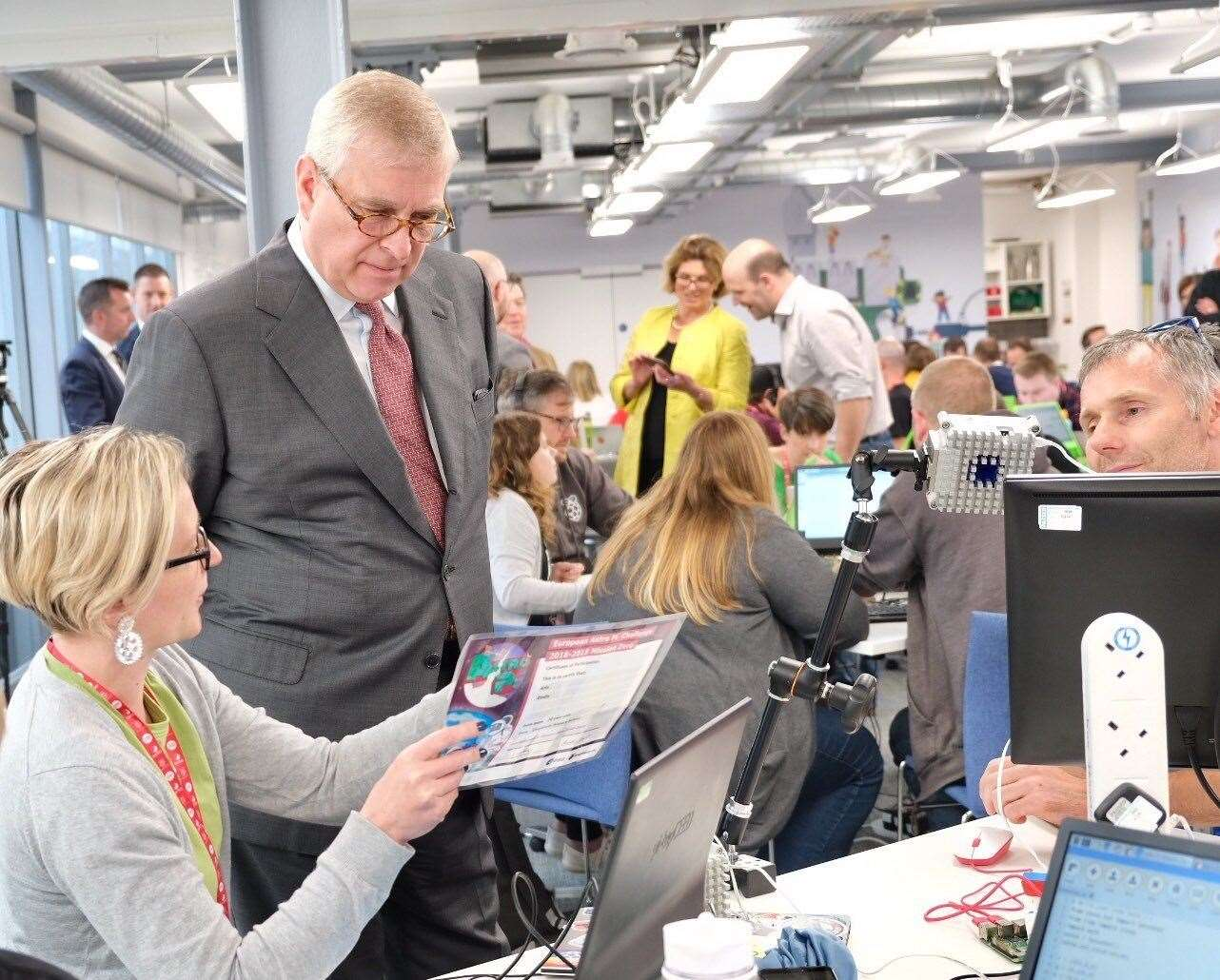 The Duke of York learns more about Astro Pi at the Raspberry Pi Foundation (11528508)