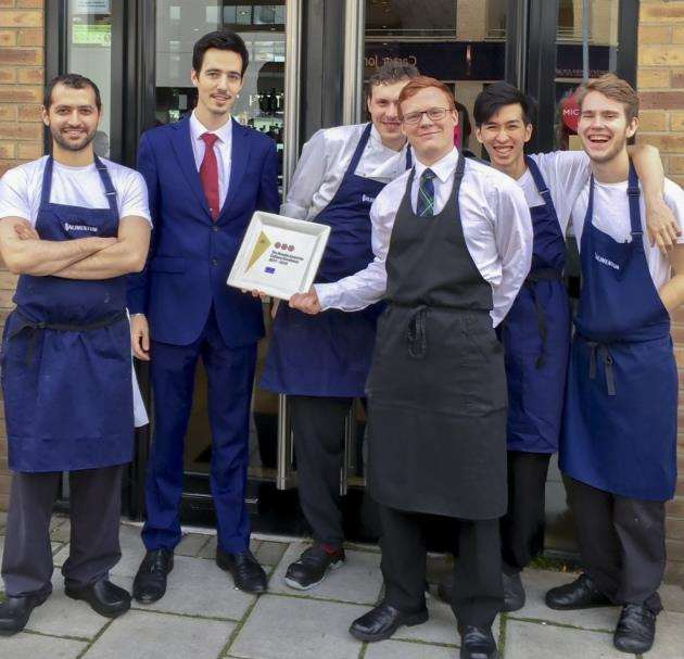 Alimentum staff when they celebrated AA three rosettes. Picture: Alimentum
