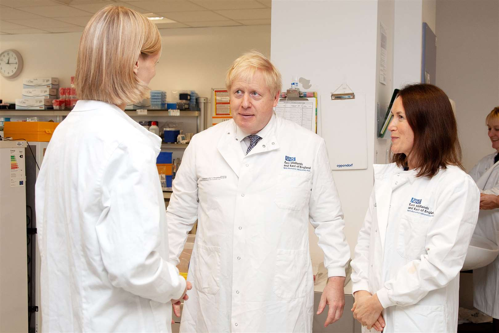 Prime Minister Boris Johnson visits Addenbrooke's Hospital. Picture supplied by Cambridge University Hospitals Trust (20584257)