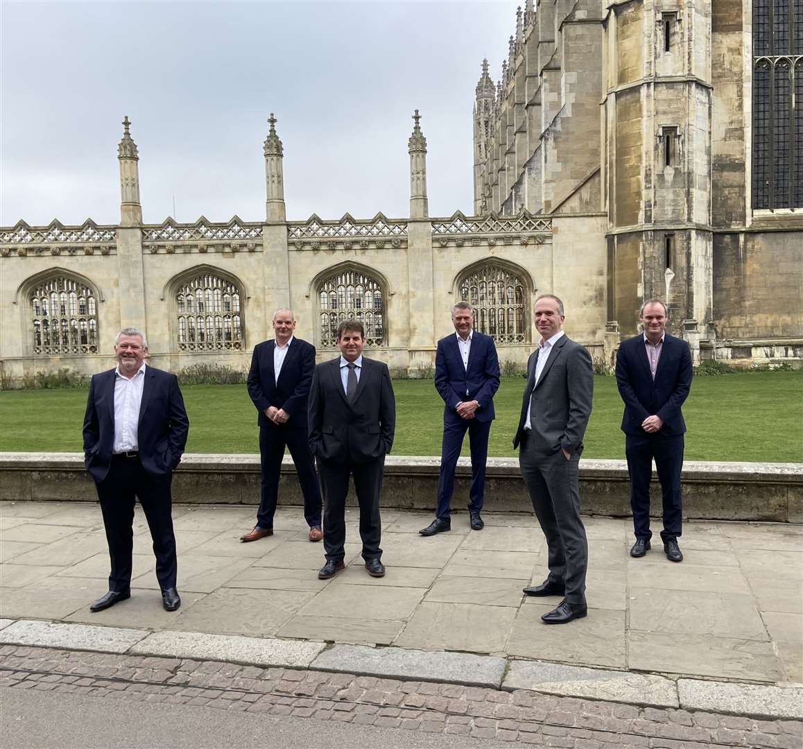 The COEL management team, from left, group CEO Alistair Rumbelow, group operations director Jerry Overhill, group MEP director Dean Powell, group director Neil Cook, group sales and marketing director Barnaby Clark and group FD David Williams. Picture: COEL