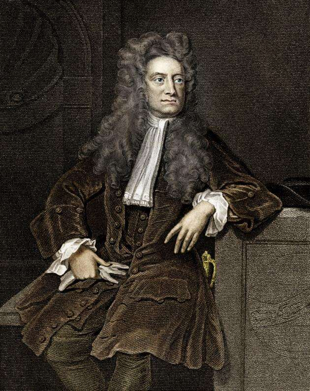 Vintage engraving of Sir Isaac Newton His Philosophiae Naturalis Principia Mathematica, published in 1687 in Latin, is considered to be the most influential book in the history of science.