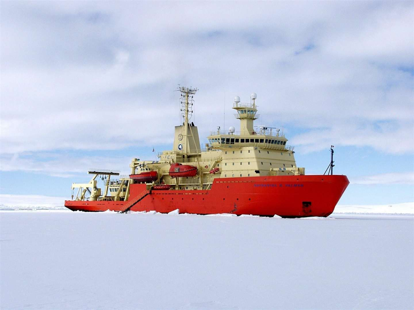 the US icebreaker Nathaniel B Palmer. Picture: A L Gordon, NSF. (6830836)