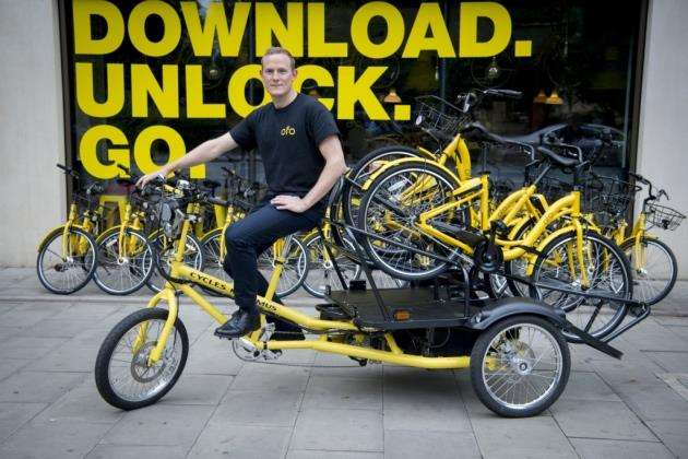The Ofo launch at The Espresso Library in Cambridge, with UK operations director Joesph Seal-Driver. Picture: Keith Heppell