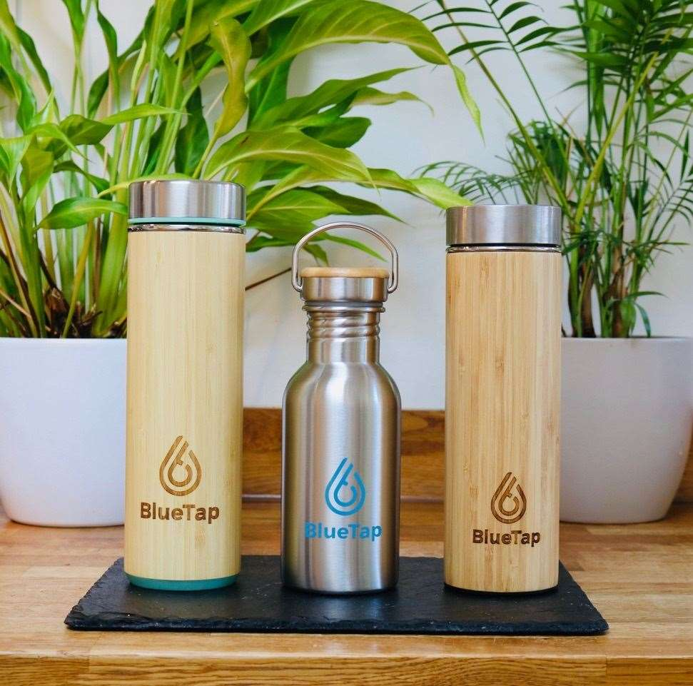 Blue Tap's water bottles are on sale in the UK, £20 for the stainless steel option with bamboo finish, or £12 for the all-steel version
