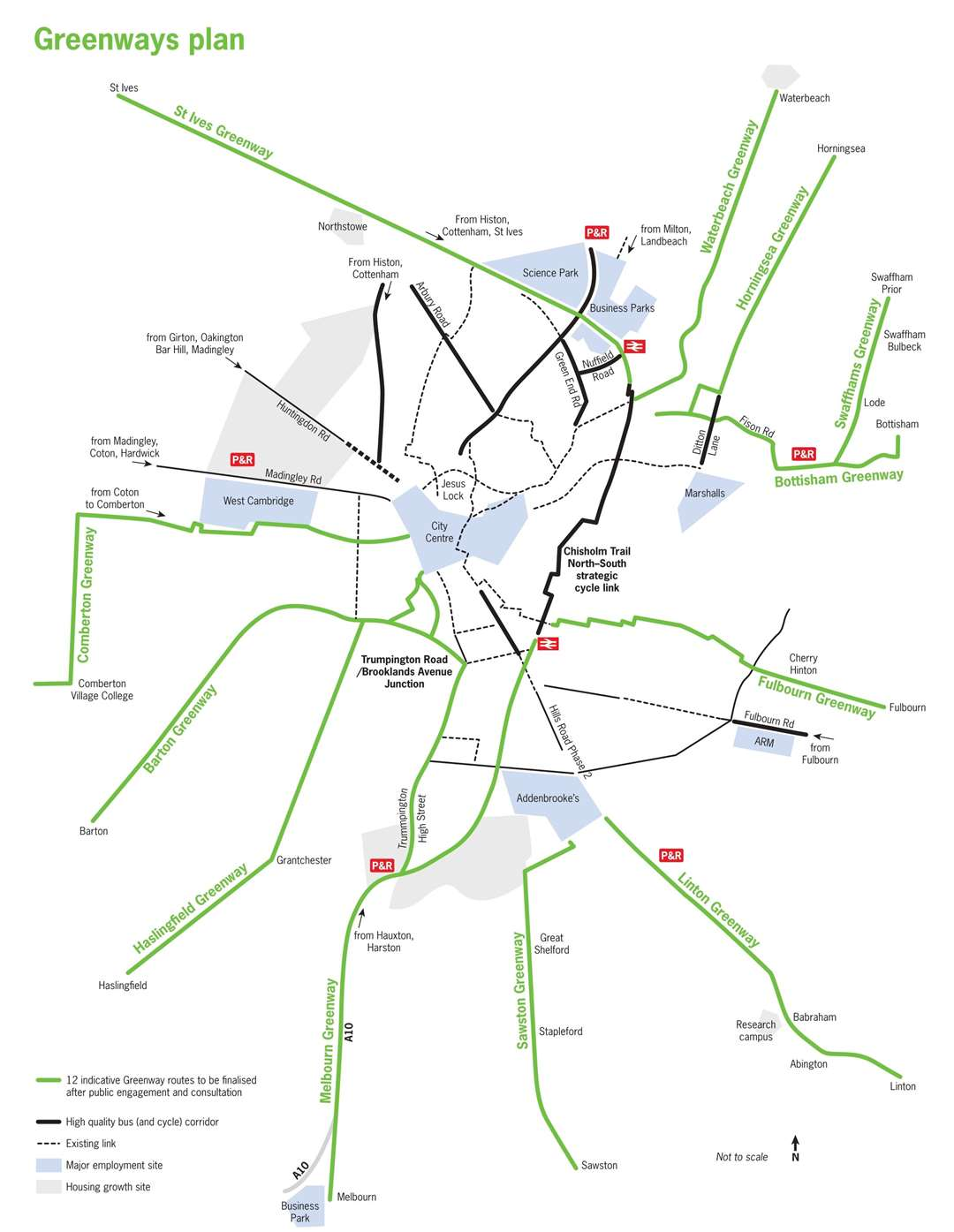 Greenways cycle routes. Picture: GCP (37338621)