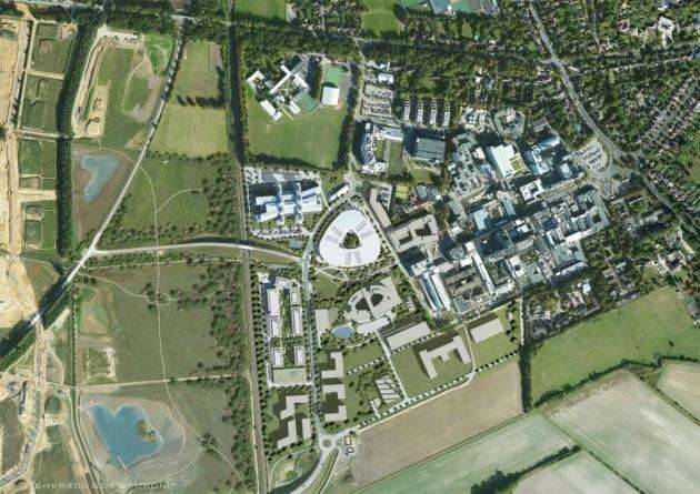 Masterplan drawing of AstraZeneca at Cambridge Biomedical Campus